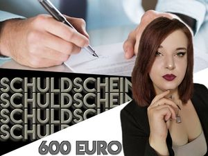 Promissory note for beginners! 600 euros 6 months 100